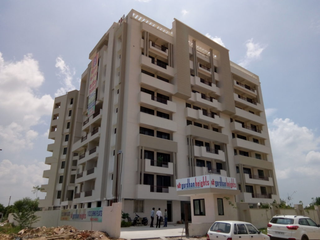 Shri Gordhan Heights , a housing project by Front Desk Architects