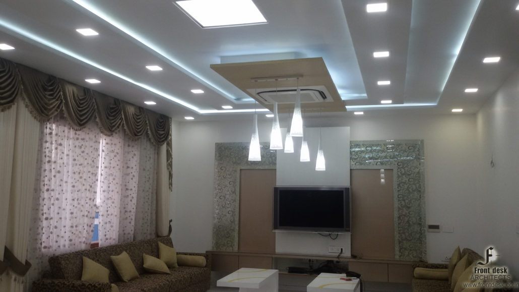 F Colony Residence Interior living room in Jaipur