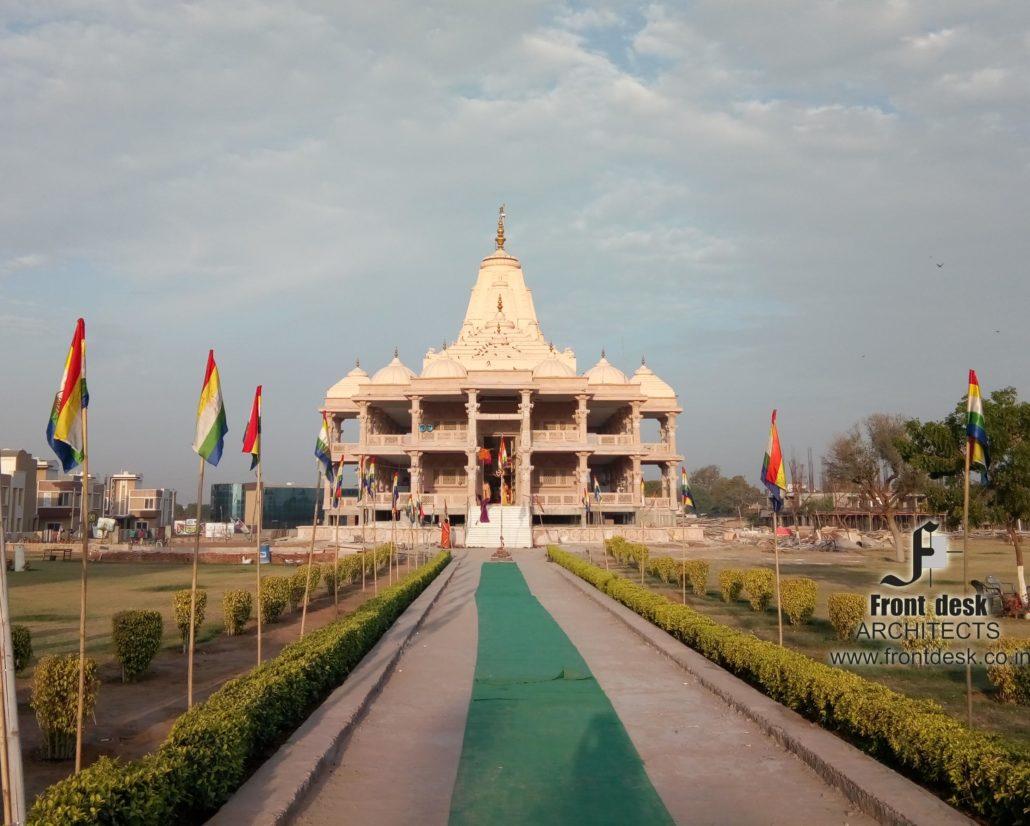Shri 1008 Chandraprabhu Digamber Jain Mandir at suparshwa garden city Ajmer road, Jaipur