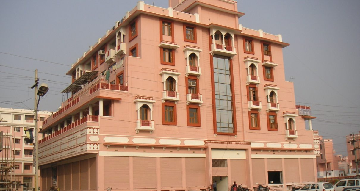 Krishna Tower - Rajasthani design housing Project designed by Front Desk Architects