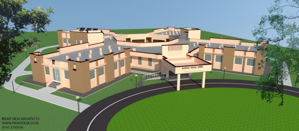 PANCHAYAT SAMITI BHAWAN: GOVERNMENT PROJECT BY DESIGNED FRONT DESK ARCHITECTS