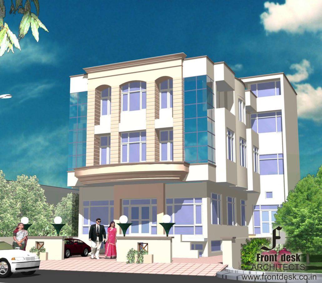 SSK house, Commercial at Sahkar Marg,  Jaipur by Front Desk Architects