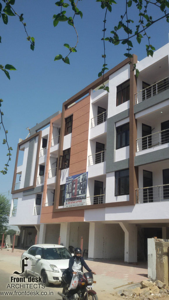 Shri ratnam Sapphire  : Contemporary Housing Project designed by Front Desk Architects