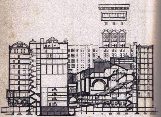 Auditorium Building Section : Louis Sullivan works