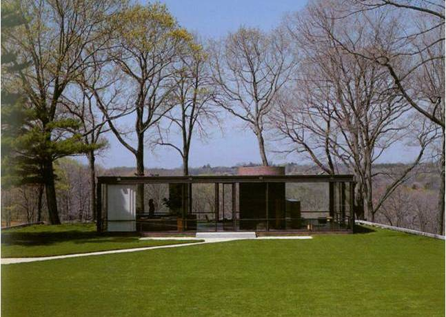 Glass House or Johnson house, in New Canaan, Connecticut