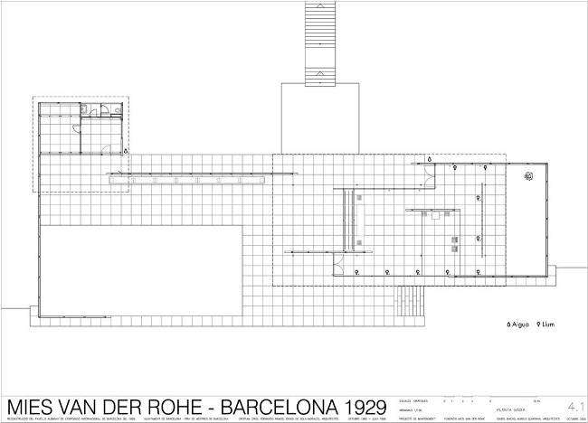 German Pavilion , Barcelona 1929.Designed by Mies Van der  Rohe