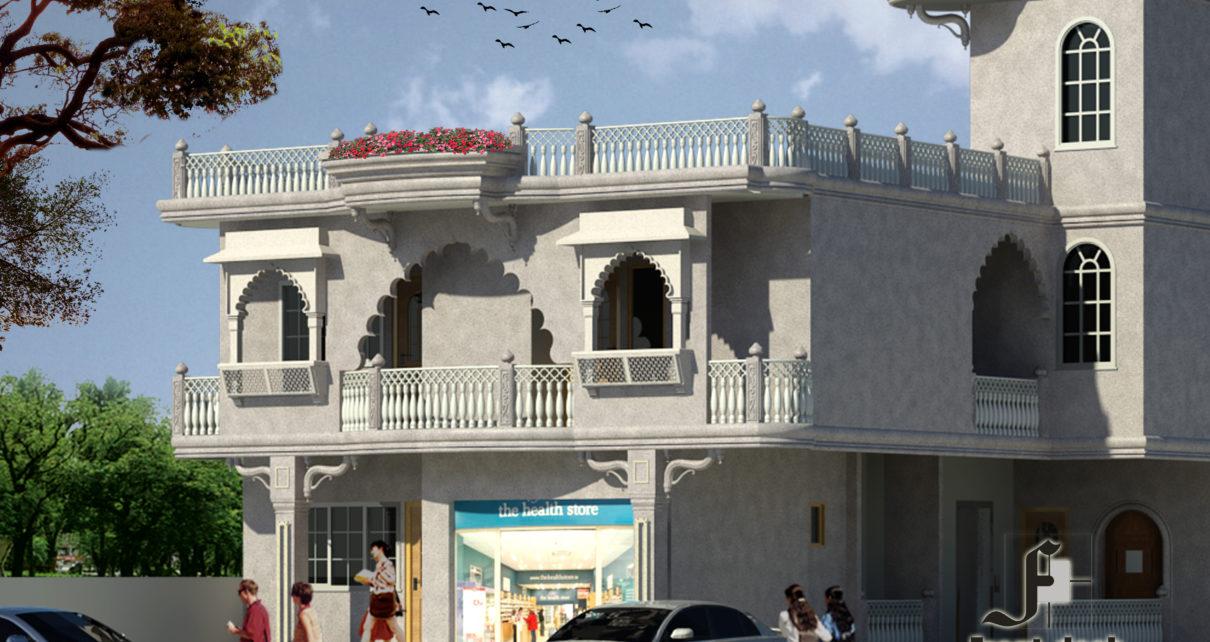 SRS Hospital cum Residence, Karni Vihar, Jhotwara, Jaipur : Designed by Front Desk Architects , Jaipur