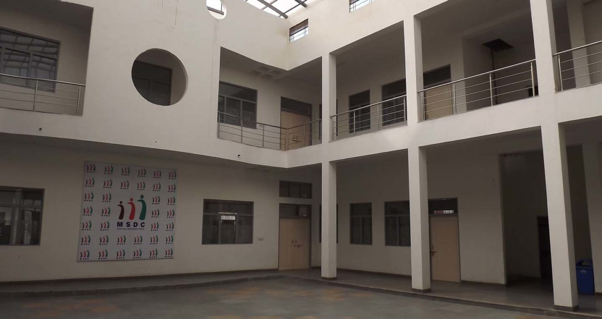 Courtyard at MSDC Jaipur, Institutional project by Front Desk Architects