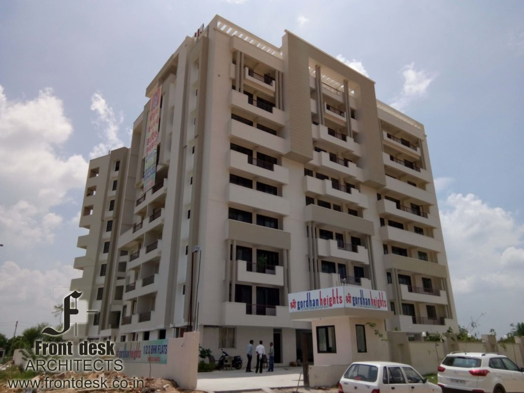 Shri gordhan heights a Housing project by front desk architects